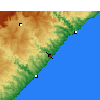 Nearby Forecast Locations - Coffee Bay - Mapa