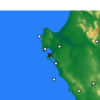 Nearby Forecast Locations - Langebaan - Mapa