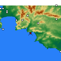 Nearby Forecast Locations - Hermanus - Mapa