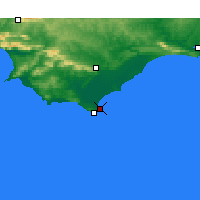 Nearby Forecast Locations - Struisbaai - Mapa