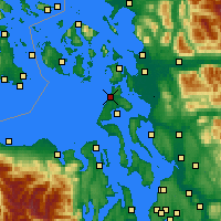 Nearby Forecast Locations - Whidbey Island - Mapa