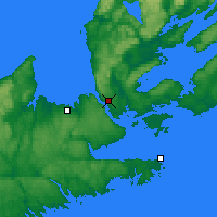 Nearby Forecast Locations - Port Hawkesbury - Mapa