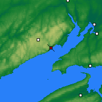 Nearby Forecast Locations - Fundy Park Cs - Mapa