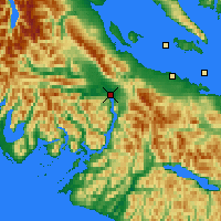 Nearby Forecast Locations - Port Alberni - Mapa