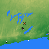 Nearby Forecast Locations - Peterborough Trent - Mapa