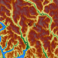 Nearby Forecast Locations - Callaghan Valley - Mapa