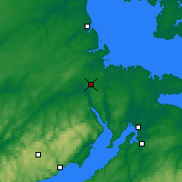 Nearby Forecast Locations - Moncton - Mapa