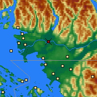 Nearby Forecast Locations - Pitt Meadows - Mapa