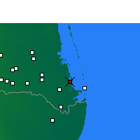 Nearby Forecast Locations - Port Isabel - Mapa