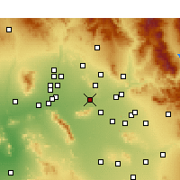 Nearby Forecast Locations - Phoenix - Mapa