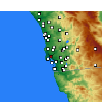 Nearby Forecast Locations - San Diego - Mapa