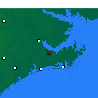 Nearby Forecast Locations - Havelock - Mapa