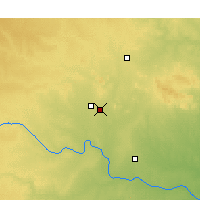 Nearby Forecast Locations - Altus - Mapa