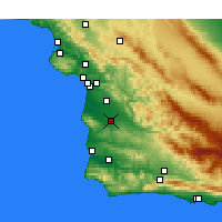 Nearby Forecast Locations - Santa María - Mapa
