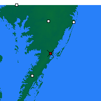 Nearby Forecast Locations - Wallops - Mapa