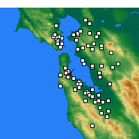 Nearby Forecast Locations - San Francisco - Mapa