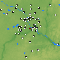 Nearby Forecast Locations - Minneapolis - Mapa