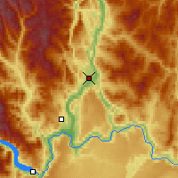 Nearby Forecast Locations - Omak - Mapa