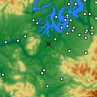 Nearby Forecast Locations - Olympia - Mapa
