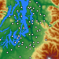 Nearby Forecast Locations - Seattle - Mapa