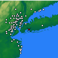 Nearby Forecast Locations - New York (JFK) - Mapa
