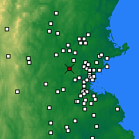 Nearby Forecast Locations - Bedford - Mapa