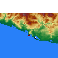 Nearby Forecast Locations - Acapulco de Juárez - Mapa