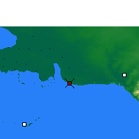 Nearby Forecast Locations - Playa Girón - Mapa