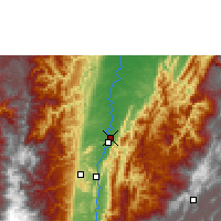 Nearby Forecast Locations - Palanquero - Mapa