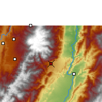 Nearby Forecast Locations - Ibagué - Mapa