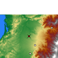 Nearby Forecast Locations - Cantón La Concordia - Mapa