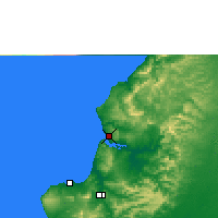 Nearby Forecast Locations - Bahía de Caráquez - Mapa