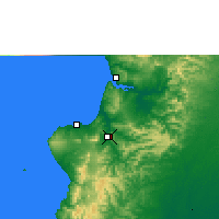 Nearby Forecast Locations - Portoviejo - Mapa