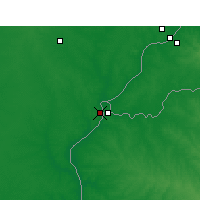 Nearby Forecast Locations - Monte Caseros - Mapa