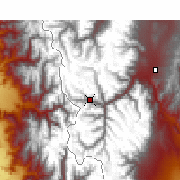 Nearby Forecast Locations - Puente del Inca - Mapa