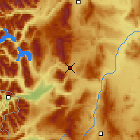 Nearby Forecast Locations - Esquel - Mapa