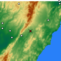 Nearby Forecast Locations - Dannevirke - Mapa