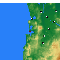 Nearby Forecast Locations - Kawhia Harbour - Mapa