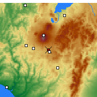 Nearby Forecast Locations - Waiouru Airstrip - Mapa