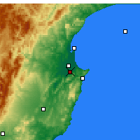 Nearby Forecast Locations - Havelock North - Mapa