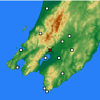 Nearby Forecast Locations - Featherston - Mapa