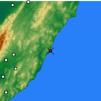 Nearby Forecast Locations - Castlepoint - Mapa
