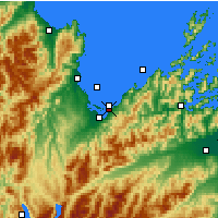Nearby Forecast Locations - Parque nacional Abel Tasman - Mapa