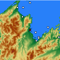 Nearby Forecast Locations - Motueka - Mapa