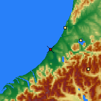 Nearby Forecast Locations - Hokitika - Mapa