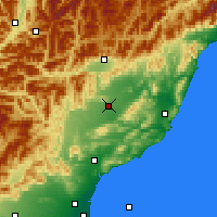 Nearby Forecast Locations - Culverden - Mapa