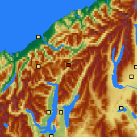 Nearby Forecast Locations - Haast - Mapa