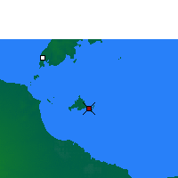 Nearby Forecast Locations - Sweers Island - Mapa