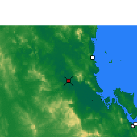Nearby Forecast Locations - Rockhampton - Mapa