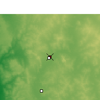 Nearby Forecast Locations - Morawa aeropuerto - Mapa
